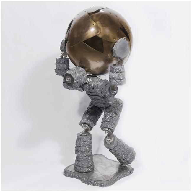 Atlas 41<br>(Concrete, bronze finish stainless  steel)