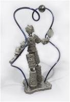 Jeu d'équilibre 1<br>(Concrate, titanium, stainless steel)