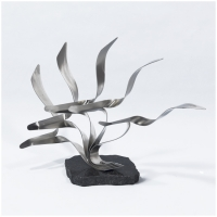 L'envol 2<br>(Stainless steel, granite base)