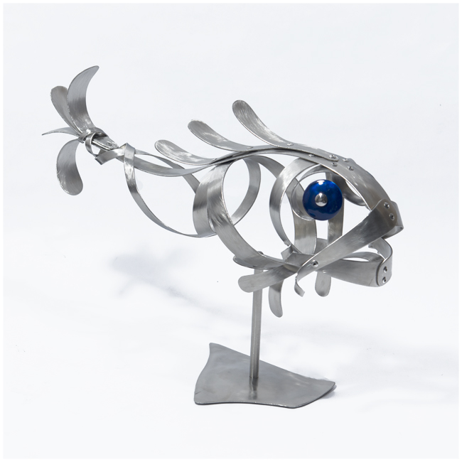 Poisson 7<br>(Sstainless steel, blue eyes)
