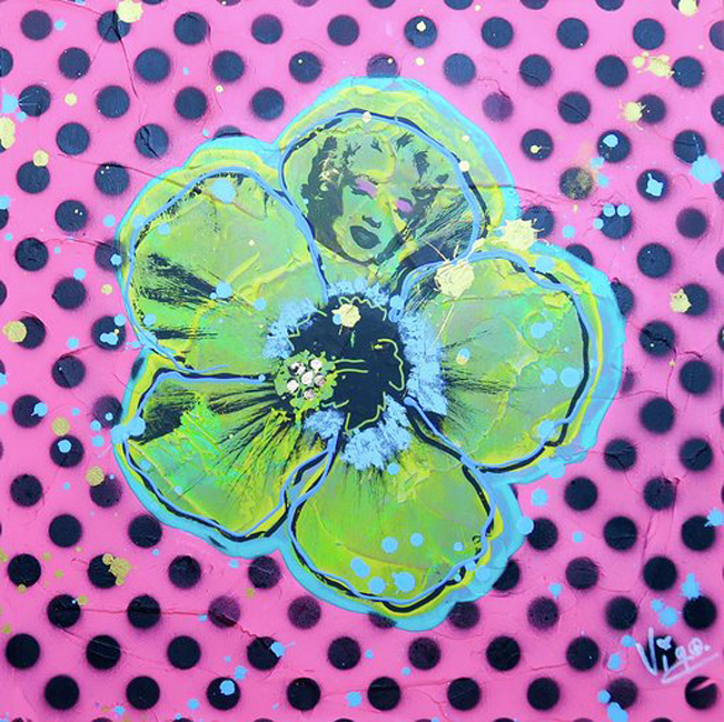 Flower no. 13 - Tribute to Warhol