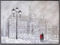 Hôtel de ville l'hiver